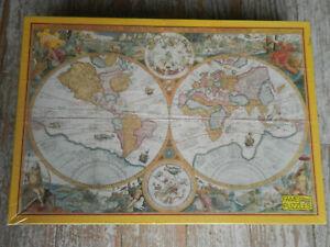 3000 pieces puzzle mappemonde globe carte  geographie jamais fait neuf