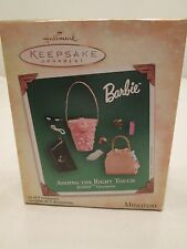 Hallmark Barbie Adding the Right Touch Set of 9 Miniature 2004 Ornaments