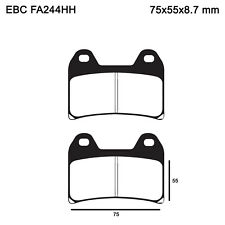 EBC FA244HH Replacement Brake Pads for Front KTM 1290 Super Adventure 2015