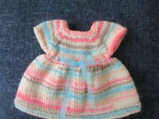Hand Knit Striped Dress for 14,5 inch American Girl Wellie Wisher Dolls 02