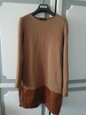 Stunning Ted Baker Dress with Real Leather Details, size 1 or UK8- VGC