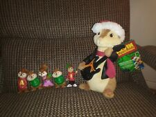 Alvin & The Chipmunks Musical Dancing Christmas Song Plush and figures lot