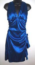 Laura Petites Size 7P Royal Blue Halter Dress