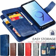 For Samsung S20 S10 S9 S8 S7 Note 20 10 Plus Wallet Card Slot Leather Case Cover