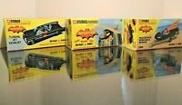 CORGI JUNIOR 3 X EMPTY BOX REPRODUCTION BATBOAT/ BATMOBILE/ BATCOPTER