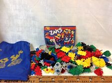 Vintage 1980's ZAKS Ohio Art Building Block Construction Toys Huge LOT W/ Sack