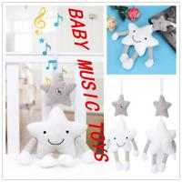 Newborn Pram Music Handbell Stroller Soft Hanging Toy Animal Rattles Toys 0-3 Ye