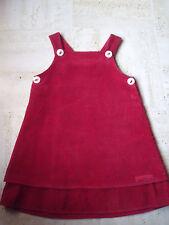 robe Julien Ferrier en velours cotelé rouge 4 ans