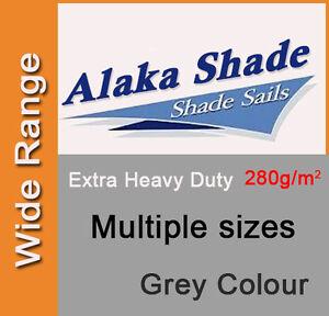 Extra Heavy Duty Shade Sail Shade Cloth Grey Gray Sun Triangle Square Rectangle
