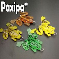 Lot 4x Soft Plastic Frog Spinner with Hook Fishing Lure Bass bream snapper Barra