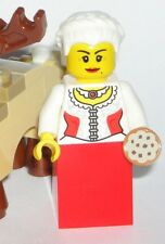LEGO Mrs. Claus Christmas Minifigure Santa's Wife with Holiday Cookie