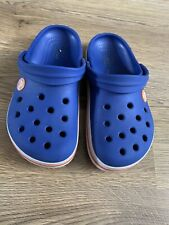 CROCS boys UK Kids size 13 BLUE casual clogs beach garden sandals