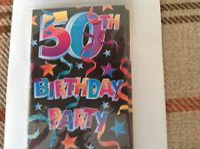Amscan 50th Birthday Party Inviations pack of 8 with envelopes # 49719