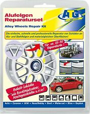 ATG Alloy Wheels Repair Kit Curb Damage Scratch Rims Repair Set Silver