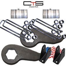 "Lift Kit Chevy Front Torsion Keys 2"" Rear Blocks=C Shock Ext 00-10 8 Lug Truck"