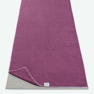 Gaiam No-Slip Yoga Towel Purple -Bundle of 30 - Full Size Mat Towel- New