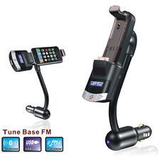21 Bluetooth FM TRANSMITTER FREISPRECHANLAGEN 3.5mm AUX Iphone iPod Halterung
