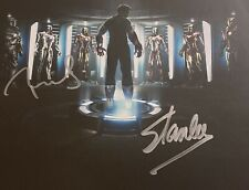 Stan Lee, Robert Downey Jr Hand Signed 8x10 - Autographed Photo - COA - AVENGERS