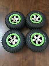 Traxxas Slash Kawasaki Tires Wheels RARE!! 4x4 or 2wd Short Course