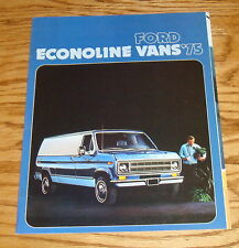 Original 1975 Ford Econoline Van Sales Brochure 75