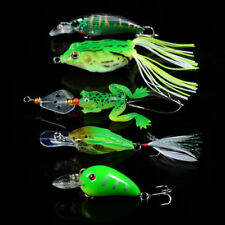 New 5pcs/Lot Mixed Soft Frog bait and Crank Fishing Lures Bass Fishing Tackle