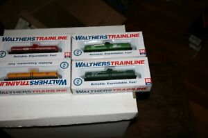 HO WALTHERS TRAINLINE ASST TANK CARS 4 PCS.   FROM ESTATE AJ