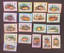 Tuvalu 1981 Fish OFFICIAL SGO1-O19 MNH UM unmounted mint