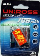 6 Piles rechargeables Uniross AAA 700mah NiMH Telephone sans fil