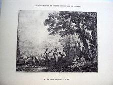 PLANCHE D APRES CLAUDE GELLEE DIT LE LORRAIN 1923 LA DANSE VILLAGEOISE