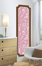 ALPHABET PRINT GiaNT WALL DECAL NEW Pink Brown STiCKers Baby Nursery MUraL DeCOR
