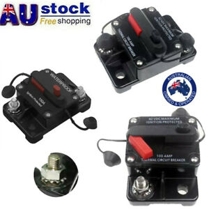 30A-300A AMP Circuit Breaker Fuse Car Boat 12-48V Waterproof Manual Reset Switch