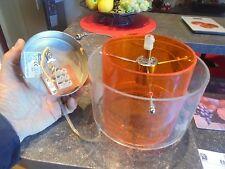 Petit Lustre Lampe Suspension Design déco Loft Orange Vintage 1970 à Compléter