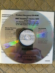 IBM ThinkPad i Series 1200 recovery CD Windows 98