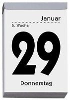 Abreißkalender Tagesblock Größe 4    6,5 x 10 cm