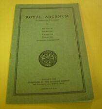1939 Royal Arcanum Subordinate Councils 20 page Booklet