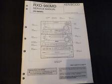 Original Service Manual Kenwood  RXD-980MD