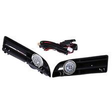 Car Front GRILLE FOG LIGHT LED LAMP Fit FOR VW JETTA BORA MK4 99-04 White Light