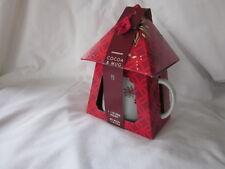 Starbucks 2013 Holiday Gift Set 12oz Floral Winter Snowflake Mug Cocoa Mix NIB