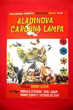 ALADDIN 1961 VITTORIO DE SICA HENRY LEVIN MARIO BAVA RARE EXYU MOVIE POSTER # 2