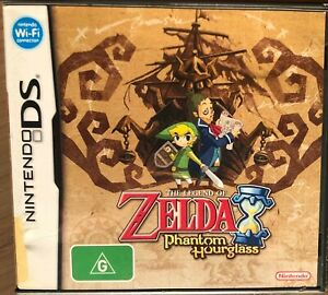 THE LEGEND OF ZELDA THE PHANTOM HOURGLASS DS GAME AS NEW CONDITION FREE SHIPPING