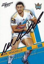 ✺Signed✺ 2012 GOLD COAST TITANS NRL Card MARK MINICHIELLO