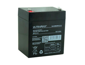 Enduring 6FM4.5 12V 4.5Ah Scooter Replacement ULTRAMAX SEALED LEAD ACID Battery