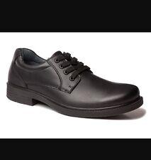 NEW Clarks Stanford Yth School Shoes Black Sz 1E Free Post