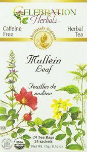 Mullein Leaf Tea by Celebration Herbals, 24 tea bag
