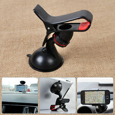 Car Windshield GPS Mount Clip Phone Holder Moible Stand Bracket 360° Rotating