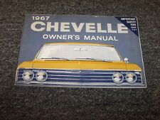 1967 Chevy Chevelle Coupe Original Owner Owner's Operator User Guide Manual V8