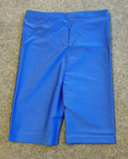 Blue Lycra Shiny Roch Valley Girls Cycling Cycle Dance Shorts Size 1B Age 7/8