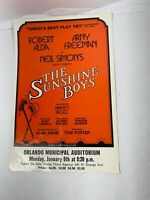 "Vintage ""The Sunshine Boys"" Program Play Robert Alda Neil  Simon Play"