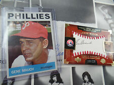 Gene Mauch autographed /225 + 1964 Topps exmt  Sweet Spot auto signed UD SP SPX