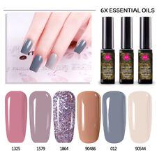 Nagel Gellack Soak off Nail UV Gel Polish Maniküre Gel Nagellack 6x Farbe Set